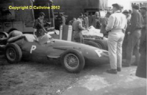 "MASERATI 250F team spare in Silverstone paddock 1958 .Amateur 10x7""photo"